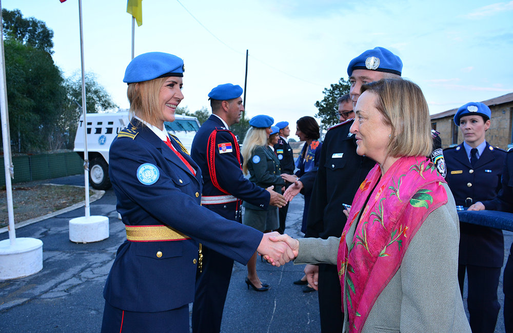30 October 2015, 17 members of the United Nations Police in UNFICYP received their United Nations Medals, awarded by the United Nations Secretary-General 'In the Service of Peace'