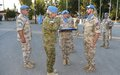 Peacekeepers awarded for their service during medal parade ceremony in Famagusta