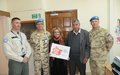 UNFICYP civil affairs officers continue to spread the word about prevention of violence against women
